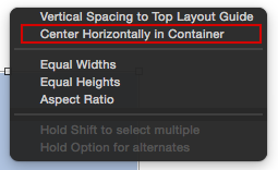 Center Horizontally in Container
